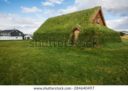 Grass Church Near Skalholt Cathedral - South, Iceland