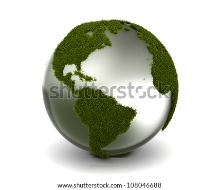 Grass Earth - stock photo