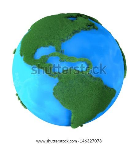 Grass Earth - stock photo