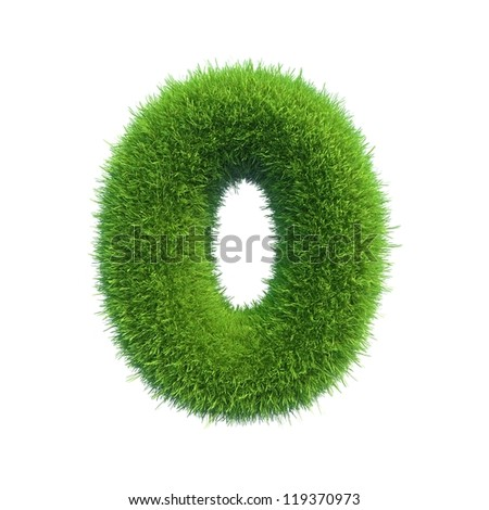 grass number 0 isolated on a white background