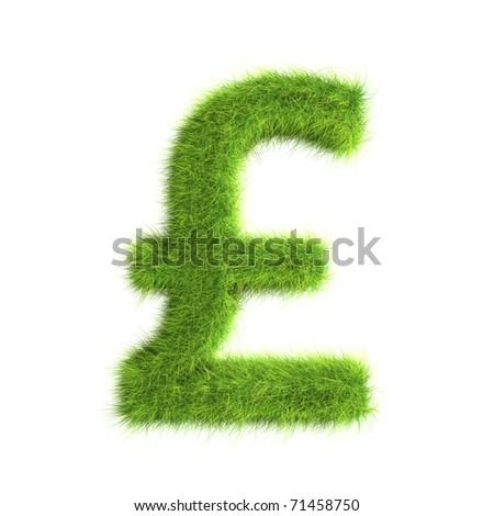 Grass pound sign - stock photo