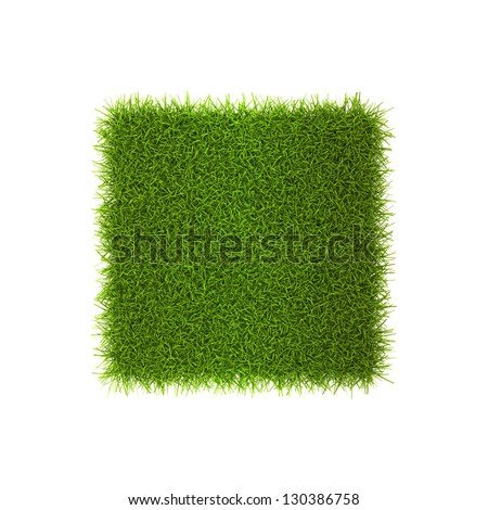 Grass style Symbol - Sign Isolated on white background - stock photo