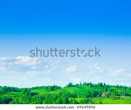 Grass Sunrise Scene - stock photo