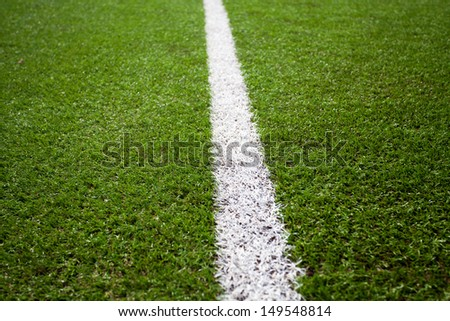Grass turf on a sports field - stock photo
