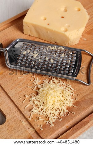 Grated cheese and fine grater