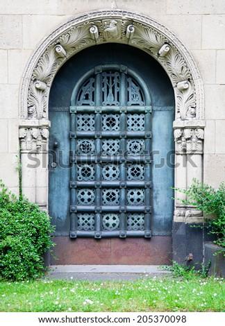Grave door  - stock photo