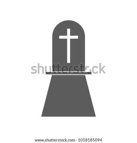 grave icon. Elements of religious signs icon for concept and web apps. Illustration  icon for website design and development, app development. Premium icon on white background