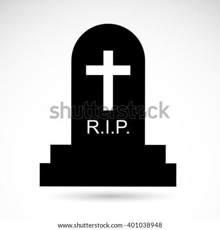 Grave icon isolated on white background. - stock photo