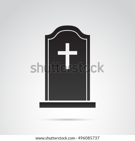 Grave icon isolated on white background.