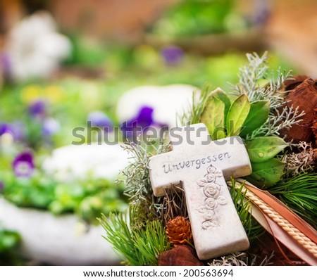 Grave jewelry, unforgotten  - stock photo