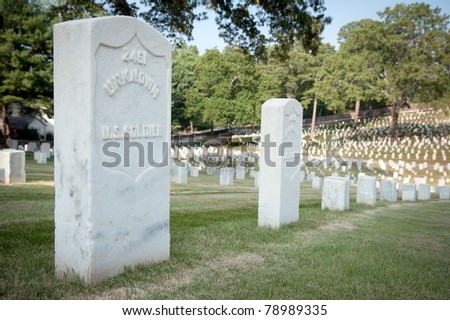 Grave of unknown U.S. soldier at National Cemetery in Marietta, Ga.