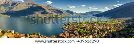 Gravedona and Lago di Como high definition panorama