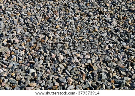 gravel, crushed stone, stone