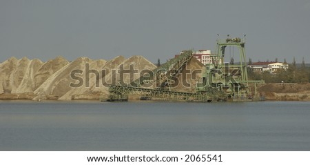 Gravel lake - stock photo
