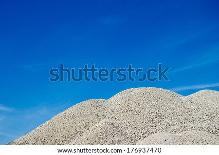 gravel mountain - stock photo