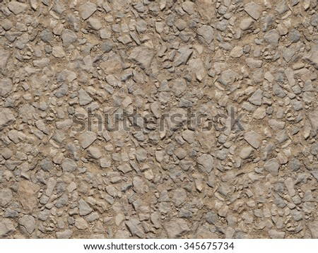 Gravel, pebbles and sand close up seamlessly - stock photo