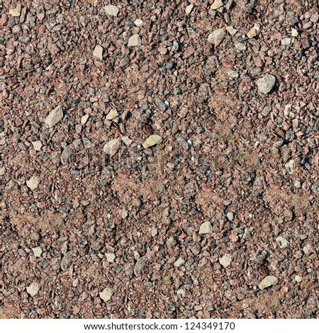 Gravel, pebbles and sand closeup seamless background - stock photo