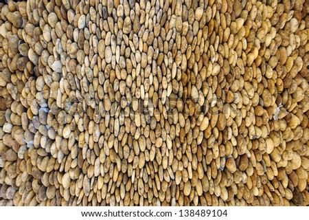 Gravel wall - stock photo