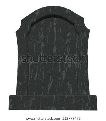 gravestone on white background - 3d illustration - stock photo