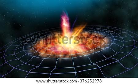 Gravitational Waves - stock photo