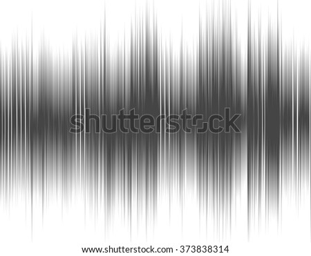 Gray abstract digital sound wave on a white background. - stock photo