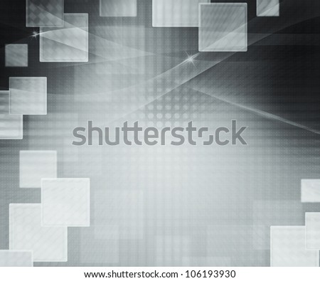 Gray Abstract Squares Background - stock photo