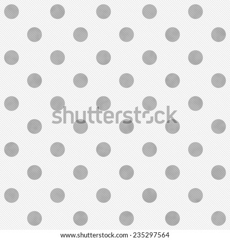Gray and White Large Polka Dots Pattern Repeat Background that is seamless and repeats - stock photo