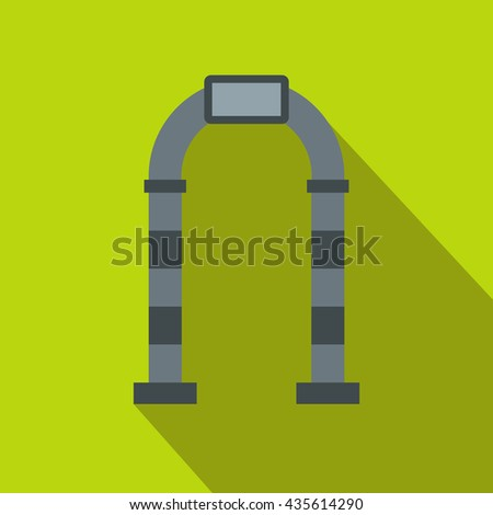 Gray arch icon, flat style - stock photo
