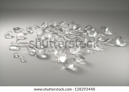 gray background of precious stones, front view - stock photo