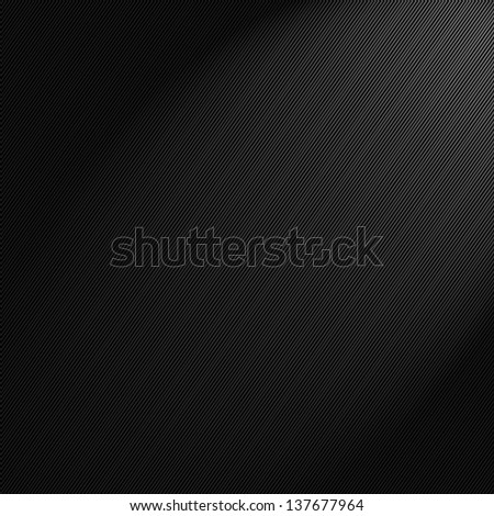 Gray  black abstract striped background with a shaft of light running through it - stock photo