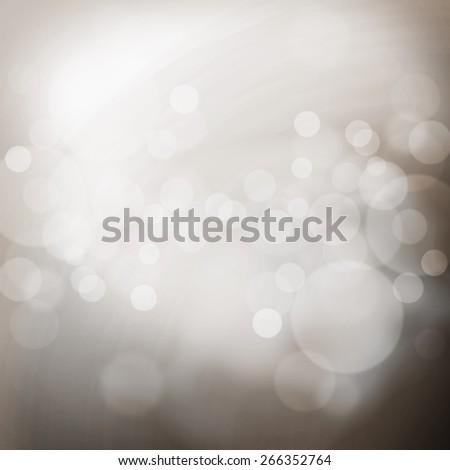 Gray blurred light bokeh background - stock photo
