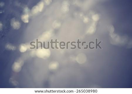 Gray bokeh background - stock photo