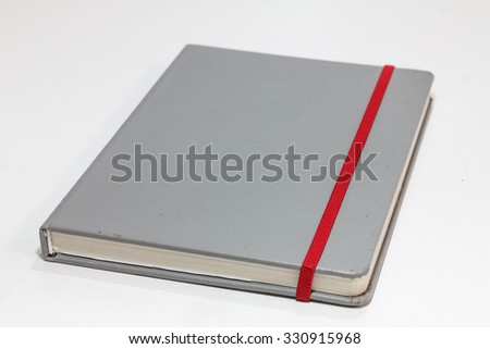 Gray book diary love and pen. - stock photo