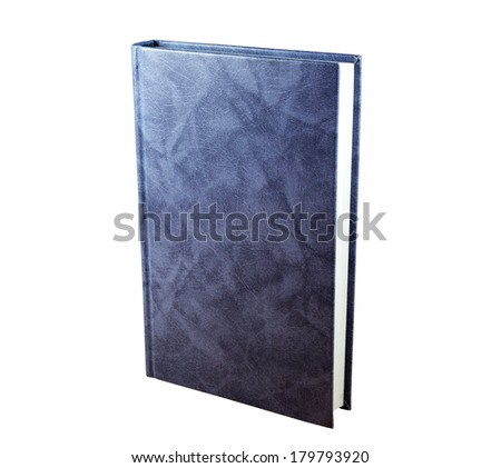 Gray  book isolated on the white background