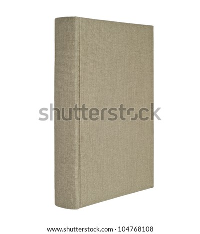 Gray book isolated on white - stock photo