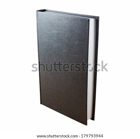 Gray  book isolated on white background