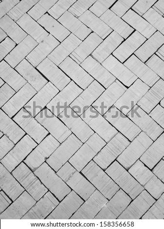 Gray brick walkway - stock photo