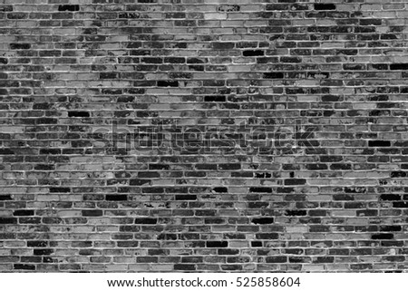 Gray brick wall, background, texture