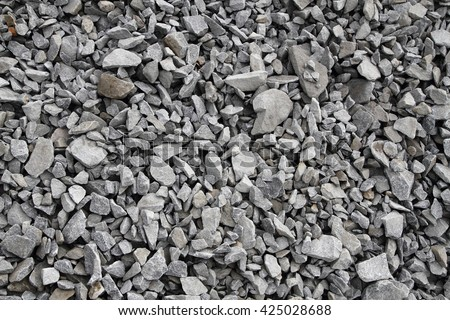 gray broken stone background (road metal) as easy texture - stock photo