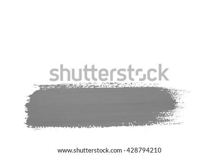 Gray brush stroke isolated on background - stock photo