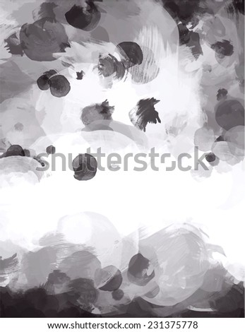Gray brush stroke paint. Abstract illustration. - stock photo
