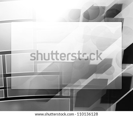 Gray Business Background Window - stock photo