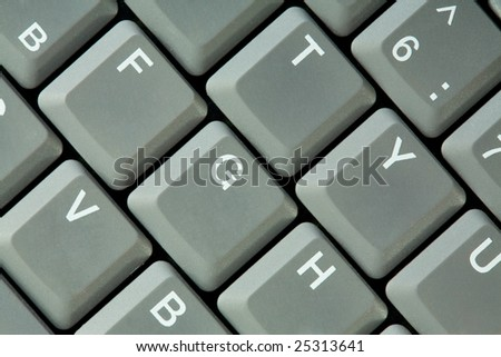 Gray button keyboard background, photographing close up