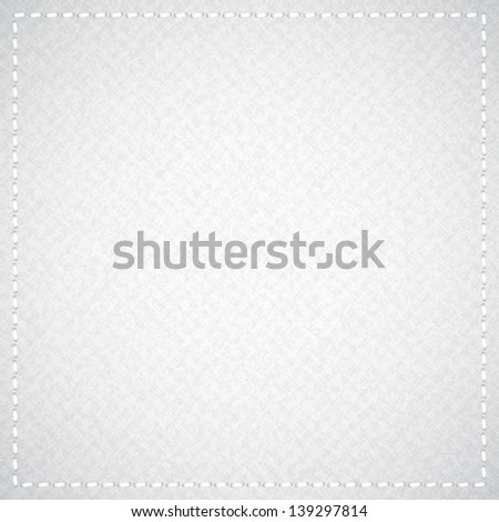 gray canvas texture with thread - stock photo