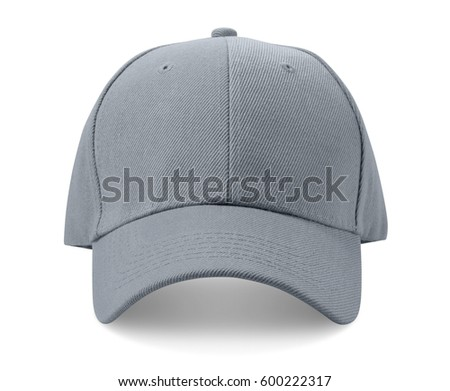 Gray cap isolated on white background.
