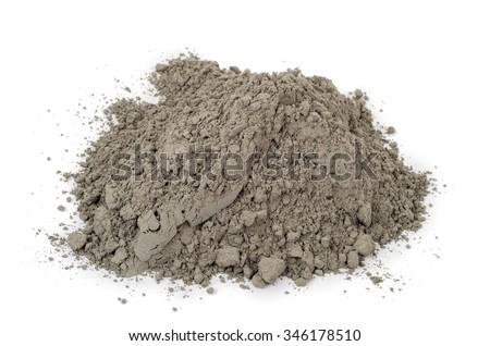 Gray cement powder - stock photo