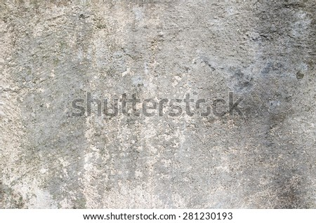 Gray cement wall with traces of the brush on the crumbling plaster. textural composition