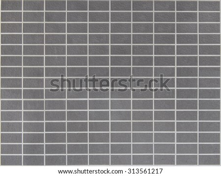 Gray ceramic tiles wall background