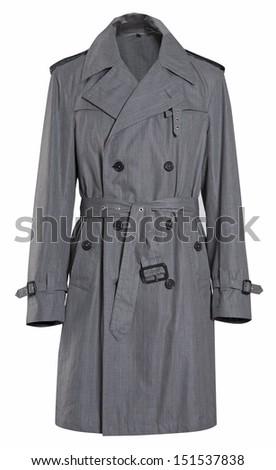 gray coat - stock photo