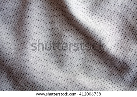 gray color sports clothing fabric jersey - stock photo